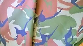 Textil - Limitka - MASKÁČ (zeleno-hnedo-čierny) - 7989581_