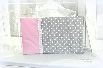 Textil - Novorodenecký vankúšik 40x60cm plochý - 7990268_