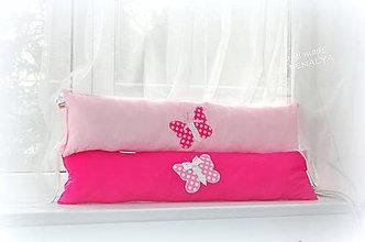 Textil - Podlhovastý vankúš z kolekcie Ružový Patchwork 23x90cm - 7990324_