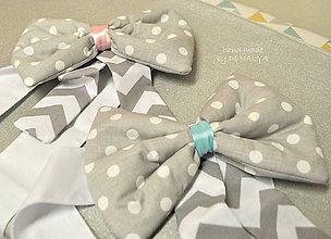 Textil - Samostatne mašľa bez baldachýnu z kolekcie Sovičky - 7990543_
