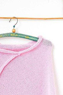 Iné oblečenie - _ALPAKA PoNČo... v ružovej... 100% alpaka - 7989684_