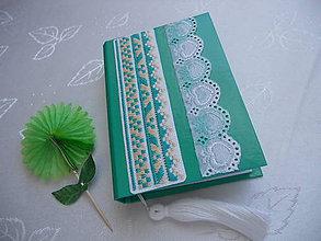 Papiernictvo - Raňajky v tráve (zápisník s ručnou výšivkou) - 7989777_