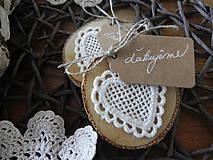 Darčeky pre svadobčanov - Čipkované svadobné magnetky - dotyk prírody:-) - 7991777_