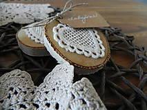Čipkované svadobné magnetky - dotyk prírody:-)