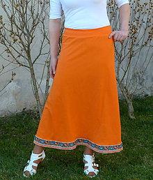 Sukne - Sukňa dlhá Oranž ind - 7992049_