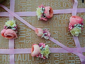 Náramky - Kvetinové náramky pre družičy voňavé