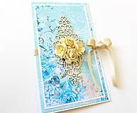 Papiernictvo - darčekový obal / pohľadnica svadobná - 7989207_