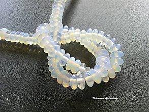 Korálky - Opalit rondelkový 6x3 mm - 7990392_