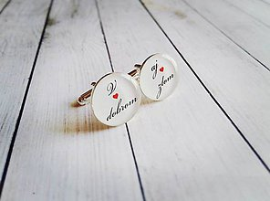 Šperky - Svadobné manžetové gombíky - 7993049_
