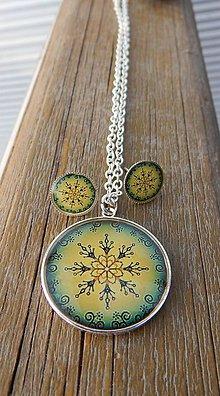 Sady šperkov - Zelený ornament - 7992553_