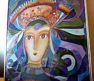 Obrazy - Nevesta v modrom Zima - 7991515_