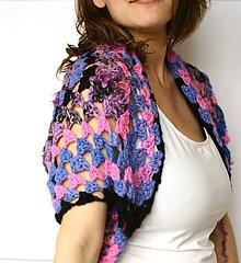 Svetre/Pulóvre - ASTRACEAE Handspun ART yarn Vesta Bolero Kardigan z ručne pradenej merino vlny - 7989141_
