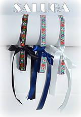 Opasky - Folklórny opasok modrý, čierny, biely - dámsky - folk - ľudový - folklór - 7991535_