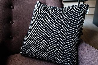Úžitkový textil - Vzorovaný vankúš - 7989395_