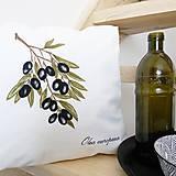 Úžitkový textil - Vankúš oliva - 7990610_