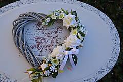 Dekorácie - Svadobné srdce - 7991454_