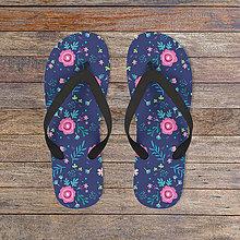 Obuv - Kvetinkové flip-flops/žabky - 7989111_