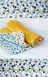 Textil - Minky deka celoročná 100x75cm horčicová - 7990181_