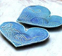 Nádoby - miska, tanierik , pod šálka , srdce - 7990253_