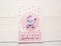 Papiernictvo - pohľadnica k narodeniu bábätka - 7991214_