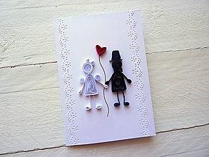 Papiernictvo - svadobná pohľadnica - 7991238_