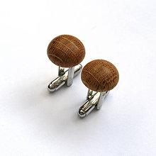 Šperky - Dubové vypuklé krúžky - 7991418_