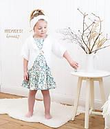 Detské oblečenie - Háčkovaný svetrík - bolerko ... chlpatá jar °°° SKLADOM - 7995792_