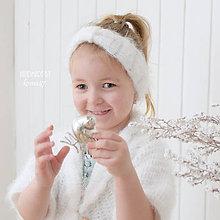 Detské čiapky - Háčkovaná čelenka ... chlpatá jar - 7995737_