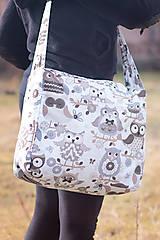 Veľké tašky - Veľká sovičková taška - 7996681_