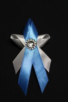 Pierka - Svadobné pierko - motýlik modrý - 7994184_
