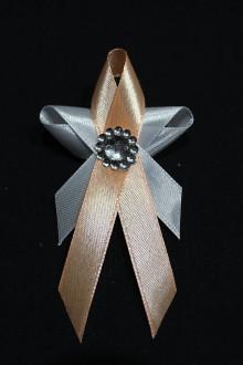 Pierka - Svadobné pierko - motýlik marhuľkový - 7994305_