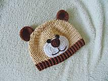 Detské čiapky - Čiapka macko pre novorodeniatko :) - 7995291_