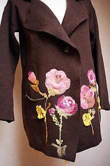 Kabáty - Jarný plstený kabat - 7994590_