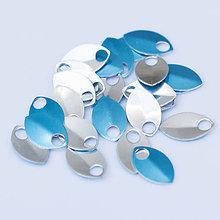 Komponenty - Šupiny malé lesklé stříbrné 10 ks - 7994890_