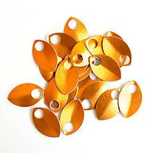Komponenty - Šupiny malé oranžové 10 ks - 7994912_