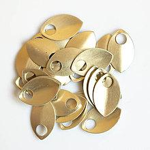 Komponenty - Šupiny malé zlaté 10 ks - 7995327_