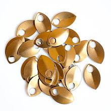 Komponenty - Šupiny malé bronzové 10 ks - 7995346_