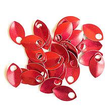 Komponenty - Šupiny malé červené 10 ks - 7995416_