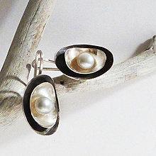 Náušnice - Stříbrné náušnice Galanta - 7993291_