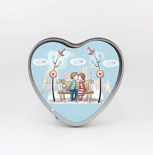 Plechová krabička v tvare srdca, Love 5