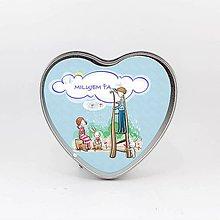 Krabičky - Plechová krabička v tvare srdca, Love 4 - 7995852_