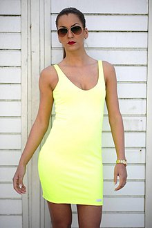 Šaty - MINI DRESS NEON - 7993215_