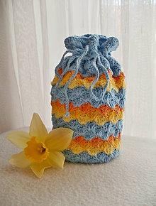 Úžitkový textil - Háčkované vrecúško - 7994404_