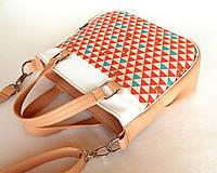 Kabelky - Sandy Girl - Púdrová s trojuholníkmi - 7996356_