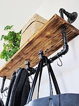 Nábytok - Industriálny trubkový vešiak - 7993426_