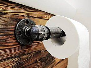 Nábytok - Industriálny držiak toaletného papiera - 7994064_