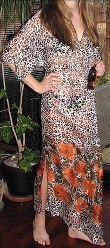 Šaty - Hodvábne plážové šaty - 7996393_