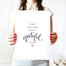 Grafika - Artprint // grateful heart - 7995176_