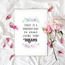 Grafika - Artprint // start living your dreams - 7995179_