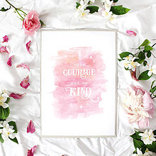 Grafika - Artprint // have courage - 7995186_